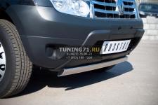 Renault Duster Защита переднего бампера d75х42 овал RD2Z-000437